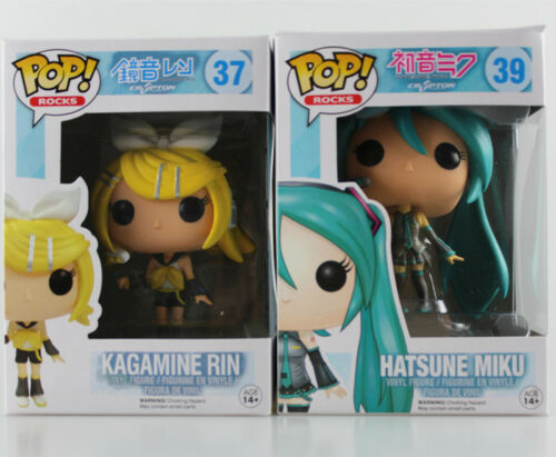 2018 Funko POP Hatsune Miku Kagamine Rin Figure Statue Toy PVC Collection Gift