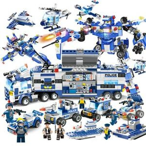 Lego-City-Special-Police-Series-SWAT-8-IN-1-with-Truck-Station-Building-Blocks