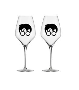 Harry Potter head glasses scar vinyl decal stickers wine glass mug 5,10 or 20
