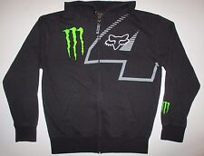 FOX Racing Monster Energy #4 Carmichael Full Zip Heavy Hoodie Sweatshirt L Large
