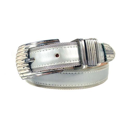 B.B. SIMON Silver Mesh/Leather Belt Women's S (24.