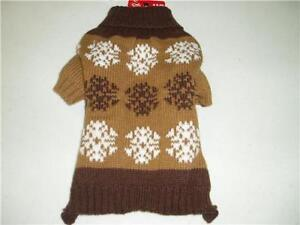 Pet-Central-Brown-Tan-Dog-Knit-Hunter-Sweater-Size-X-Small