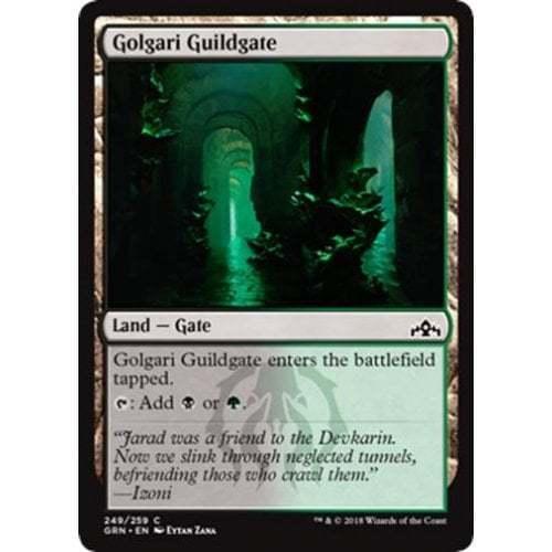 MTG GUILDS OF RAVNICA Golgari Guildgate #249 foil