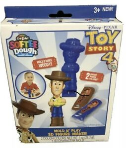 New-Cra-Z-Art-Softee-Dough-Toy-Story-4-Mold-N-039-Play-3D-Figure-Maker-Woody