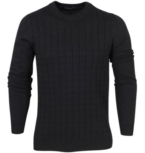Carreaux Tricot Classique Noir 12gg Estilo Design Pure Homme Tricoté Top Neuf 1xwFEZtq
