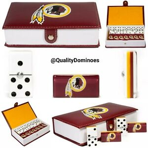 ae7dca7e Details about Washington Redskins Domino Game Set Double Six Dominoes Man  Men Father Dad Gift