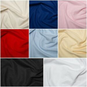 Plain-Coloured-Wincyette-Flannel-Brushed-100-Soft-Cotton-Fabric-9-colours