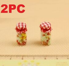 2PC Set 1:12 Scale Candy Bottles Dollhouse Miniature Re-ment Doll Home Scene ♫