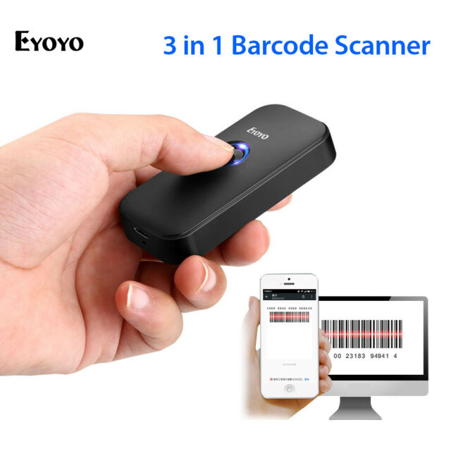 Eyoyo 3 in 1 Bluetooth Barcode Scanner 1D Screen Scanning for Phone Tablets