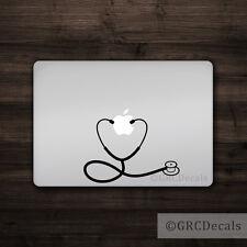 Stethoscope - Mac Apple Logo Laptop Vinyl Decal Sticker Macbook Nurse Doctor RN