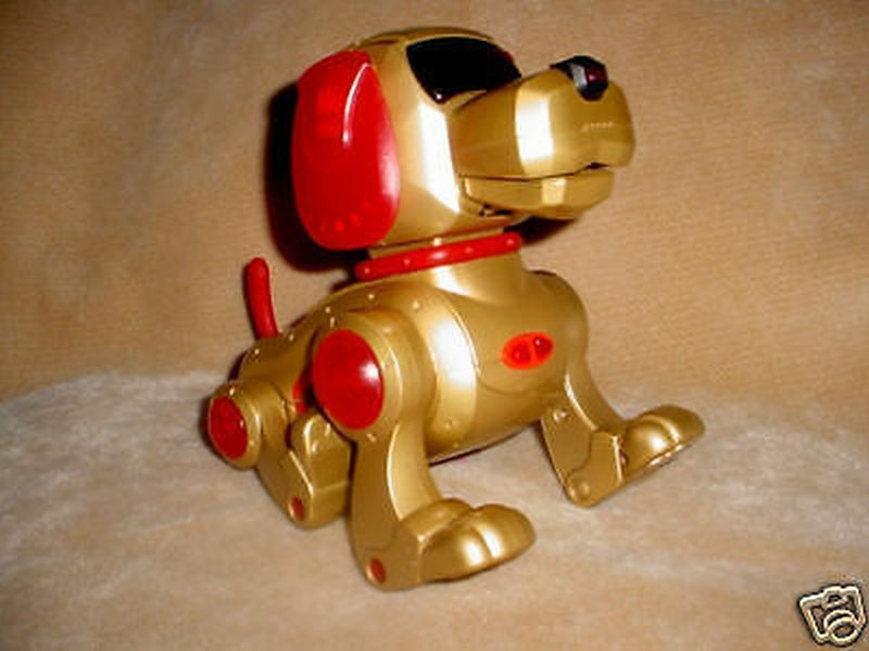 2000 TIGER-gold RED DOG VOICE TALKS INTERACTIVE TOY
