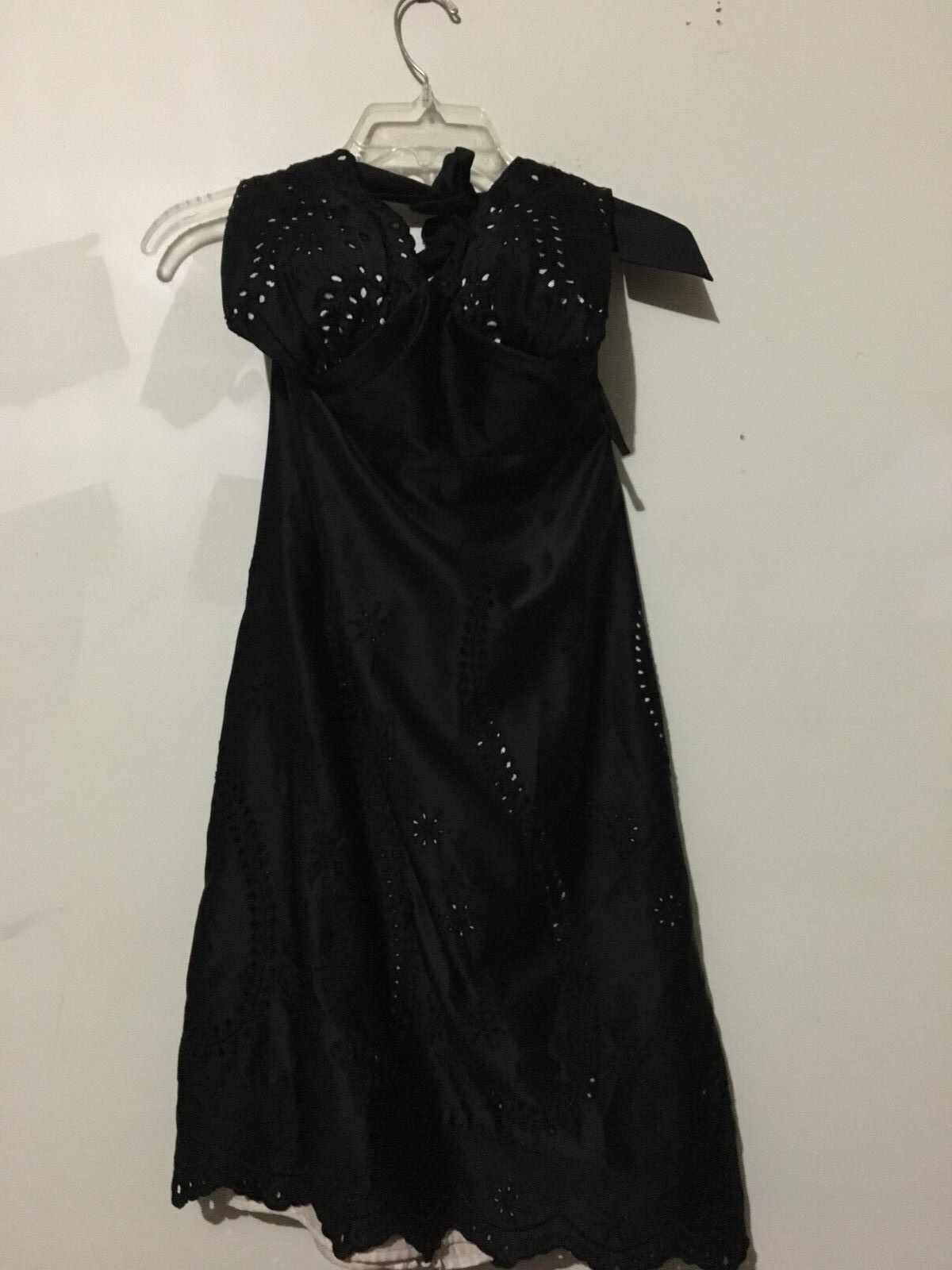 Weiß House schwarz Market Größe 2 schwarz Lace Halter Dress Lined damen Stylish