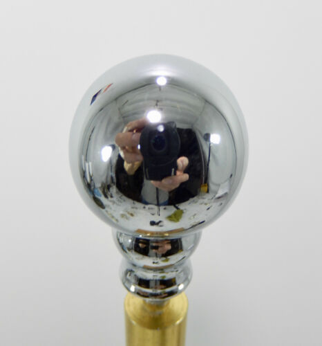 "New Chrome Plated Sphere Lamp Finial 1/"" Diameter."