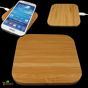 qi wireless charger pad aus holz ladeger t ohne kabel. Black Bedroom Furniture Sets. Home Design Ideas