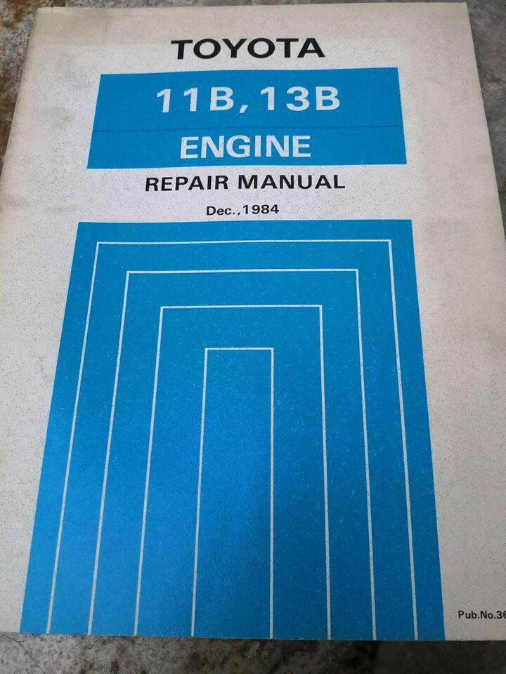 (87)Reparationsbog, Toyota 3B,13B motorbog