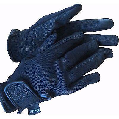 Ryda Black Waterproof Ladies Winter Horse Riding Gloves Thinsulate Lined Snug!!