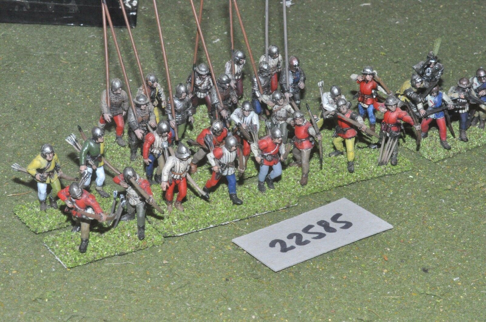 25mm medieval   english - battle group plastic 30 figs inf - inf (22585)