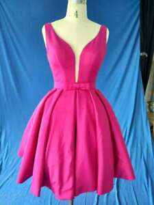 72542dfe5d0 Size 6 in stock hot pink Short Prom Dress Homecoming Dress Cocktail ...