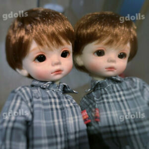 1//6 BJD SD Doll Boy Fat Face With Free Face Make up Free Eyes Resin