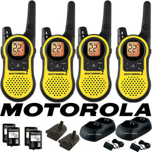 Motorola Talkabout MH230R Walkie Talkie 4 Pack Set 23 Mile Range Two Way Radio 843677000115 | eBay