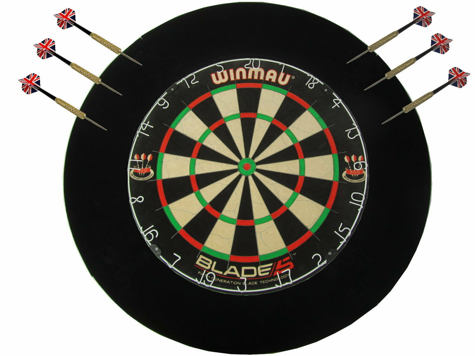 Winmau Blade 5 Dartscheiben Darts Steeldarts original 6 Pfeilen + Catchring