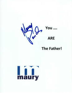 MAURY-POVICH-SIGNED-AUTOGRAPH-034-YOU-ARE-THE-FATHER-034-DISPLAY-SHOW-GAG-GIFT