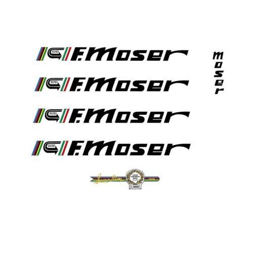 "Black Francesco Moser /""51.151/"" Decals n.30 Stickers"