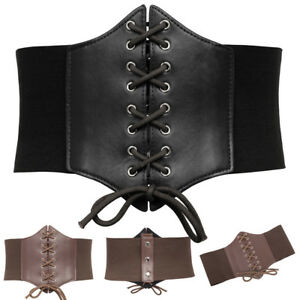 Femmes-Retro-Extensible-Elastique-Large-Corset-Ceinture-corset-tailles-S-M-L-XL