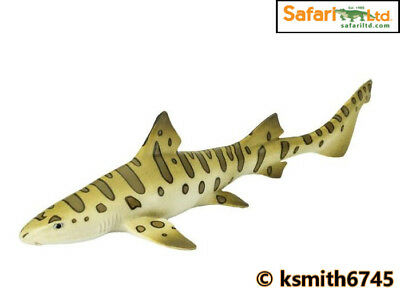 Safari LEOPARD SHARK solid plastic toy wild FISH sea marine animal NEW *