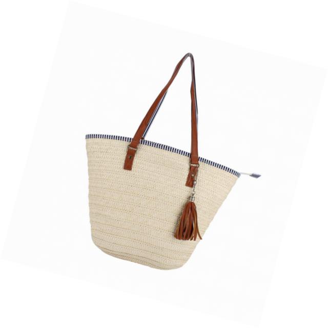 32c8dc6259d8 Sornean Summer Beach Straw Bag Top Handle Shoulder Women Tote with Tassels