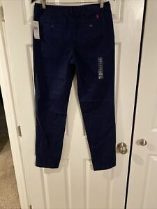 Polo-Ralph-Lauren-Logo-Flat-Front-Chino-Pants-Boy-s-Size-20-Navy-Blue-30X32