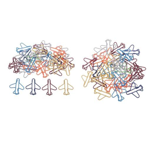60 un clips de papel coloreado Avión Clips Marcador Kits De Papelería Creative