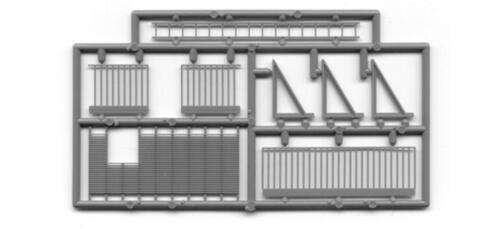 O Cara De Trem Bob Tichy Escada de incêndio pacote com 6 Escala O #2044 Muito Bonito