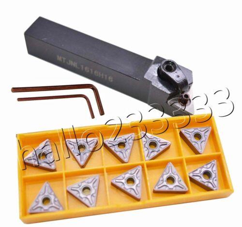 MTJNL1616H16 Lathe Turning Tool holder+TNMG160408-MA TNMG332-MA VP15TF inserts