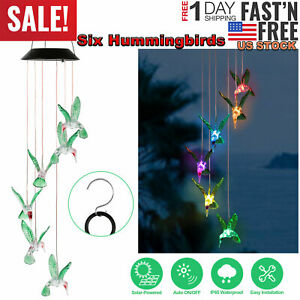 Solar-Color-Changing-LED-Hummingbird-Wind-Chimes-Home-Garden-Decoration-Light-US