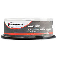 Innovera Dvd-rw Discs 4.7gb 4x Spindle Silver 25/pack 46848 on sale