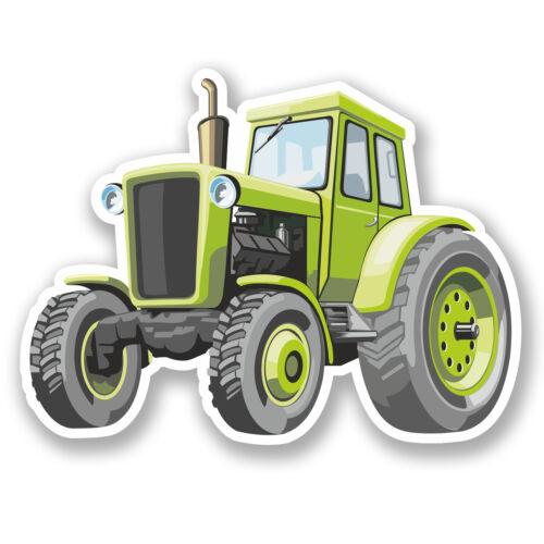 2 X 25cm Autocollant Vinyle ferme tracteur Stickers Ipad Portable agriculteur KIDS CARTOON # 5436
