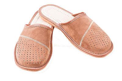 Para hombres Cuero De Gamuza Zapatillas Mulas Marrón Talla 6 7 8 9 10 11 12 Flip Flop Sandalias 1