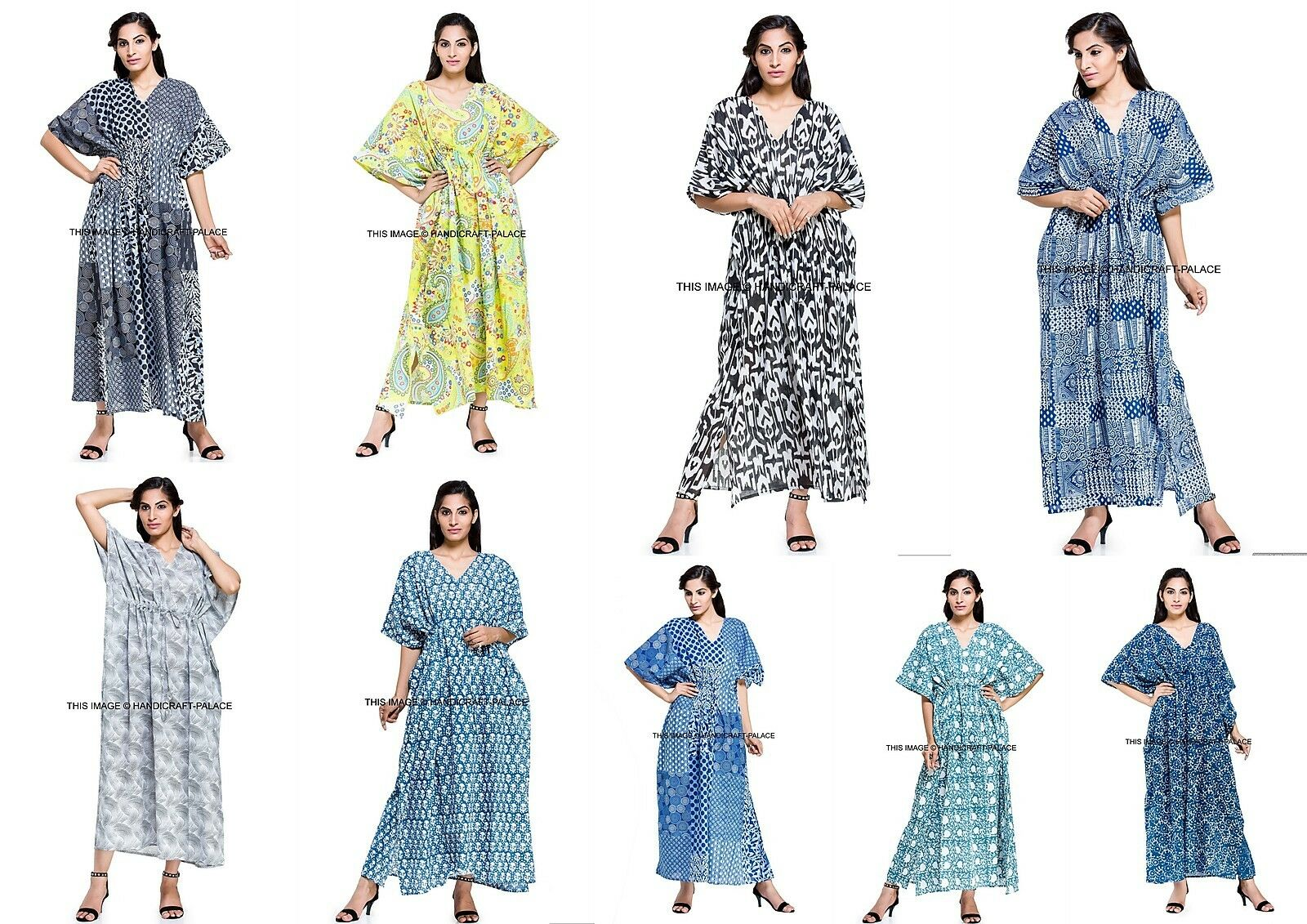 5 PC Wholesale Bulk Ladies Summer Maxi Plus Größe Dress damen Clothes Kaftan Boho