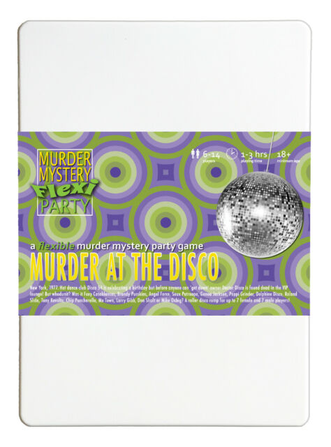 Murder at the Disco 1970s Pop Music Murder Mystery Flexi Party for 6-14 Players