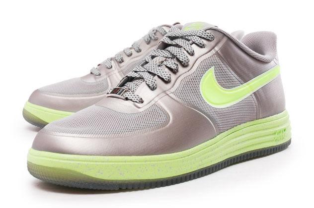 Men's Nike Lunar Force 1 Fuse Casual Shoes, 555027 002 Sizes 9.5-13 Granite/Volt