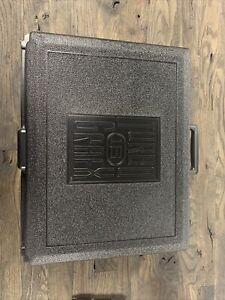 "Turbo 16 Grafx ""black plastic carry case"" vintage video game console case"