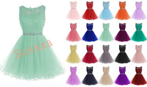 New-Short-Cute-Ball-Prom-Party-Cocktail-Bridesmaid-Dress-Size-6-8-10-12-14-16-18