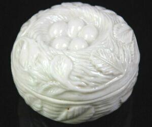 Antique-Victorian-Lustre-Porcelain-Lidded-Pot-Embossed-Easter-Nest-of-Eggs-1890