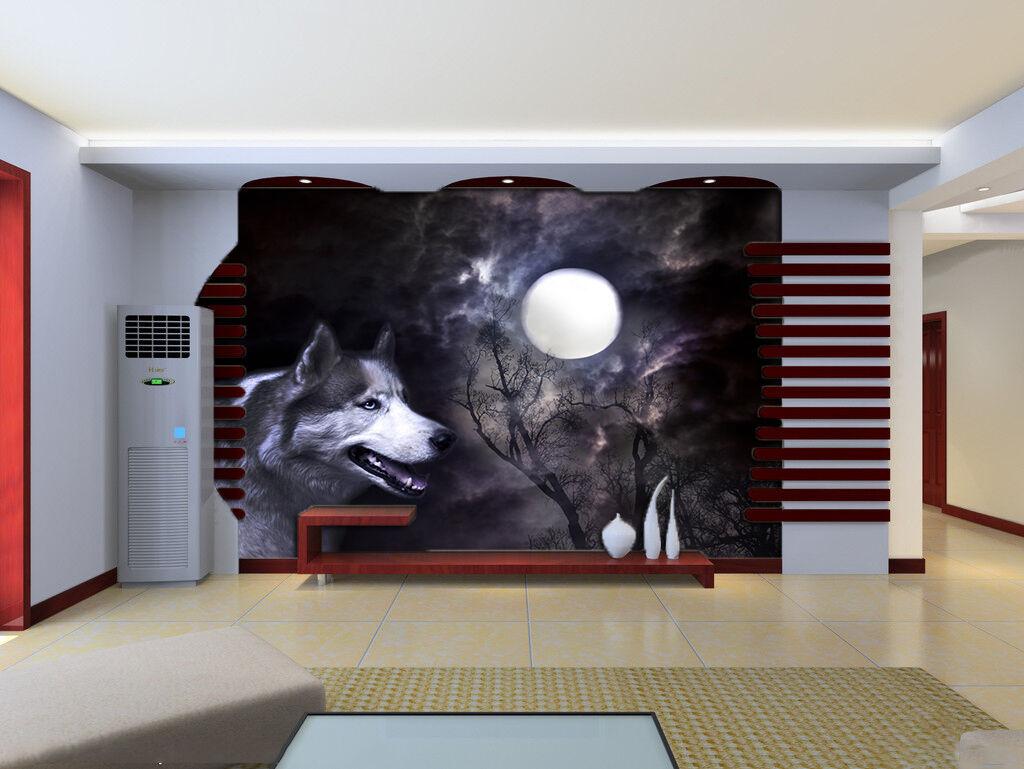 3D Dangerous Wolf 22 WallPaper Murals Wall Print Decal Wall Deco AJ WALLPAPER