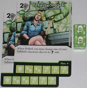Details about 2 x FELICITY SMOAK: HACKER-FOR-HIRE 55 Green Arrow and The  Flash Dice Masters
