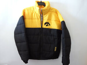 4b8e04940aa1c Details about Victoria Secret PINK University Of Iowa Hawkeyes Puffer  Jacket NWT Size Small