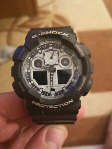 nouveau style 04272 c5907 Détails sur Casio G-Shock Montre Bracelet pour Hommes GA-100BW-1AER
