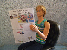 Barbie 1:6 Miniature Newspaper Free Funny Papers  BARBIE THEMED NEWS
