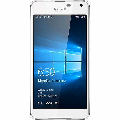 Unlocked Microsoft Nokia Lumia 650 5'' Windows 4G LTE Smartphone WHITE Color